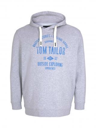 TOM TAILOR Men Plus Mikina  svetlosivá / kráľovská modrá pánské 4XL