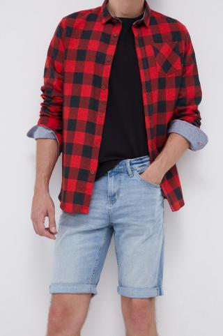 Tom Tailor - Rifľové krátke nohavice pánské modrá 29
