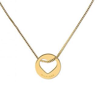 Tommy Hilfiger Dámsky pozlátený náhrdelník so srdcom TH2701075