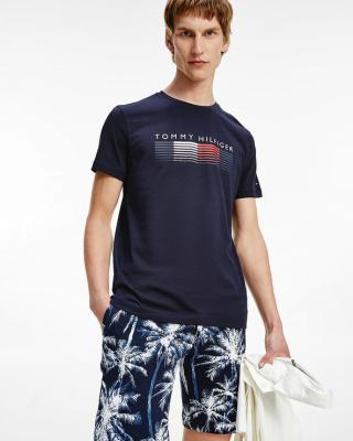 Tommy Hilfiger Fade Graphic Cord Tee Tričko Modrá pánské XL