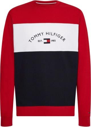 TOMMY HILFIGER Mikina  karmínovo červená / biela / námornícka modrá pánské XL