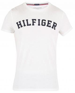 Tommy Hilfiger Pánske tričko Cotton Icon SS Tee Logo White UM0UM00054-100 XL