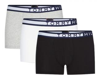Tommy Hilfiger Sada pánskych boxeriek Pvhblack / Pvhwhite / Grey htr 3P Trunk XL