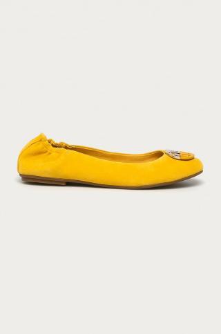 Tommy Hilfiger - Semišové baleríny dámské žltá 36