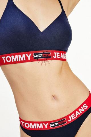 Tommy Hilfiger tmavomodrá podprsenka Bralette Lift s červenou gumou dámské S