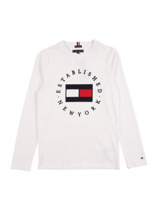 TOMMY HILFIGER Tričko  biela / červená / tmavomodrá pánské 116