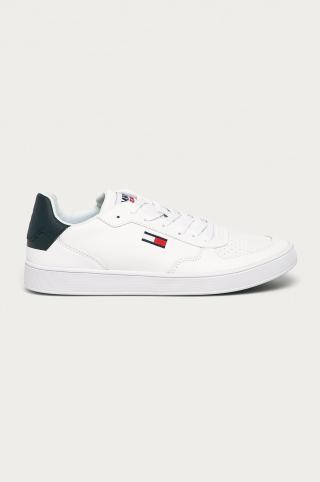 Tommy Jeans - Kožená obuv pánské biela 42