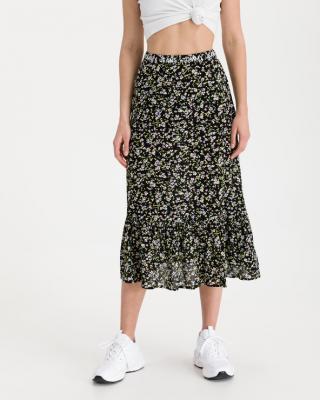 Tommy Jeans Tiered Floral Sukňa Čierna dámské M