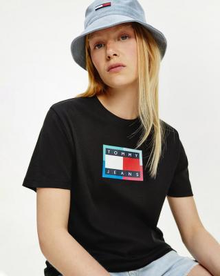 Tommy Jeans Tričko Čierna dámské XS
