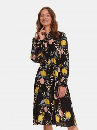 TOP SECRET čierne květované košeľové šaty - L dámské čierna L