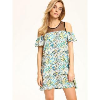 Top Secret dámske šaty s farebným vzorom dámské White 38
