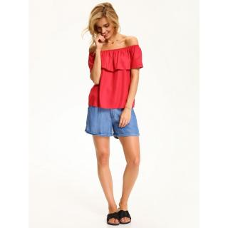 Top Secret LADYS BLOUSE SHORT SLEEVE Red 34