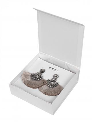 Top Secret LADYS EARRINGS Grey One size