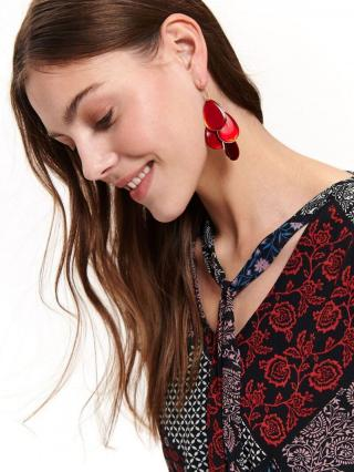 Top Secret LADYS EARRINGS Red One size