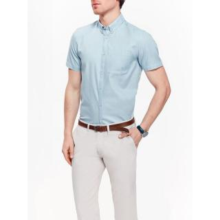 Top Secret MENS SHIRT SHORT SLEEVE pánské Light Blue 40.5