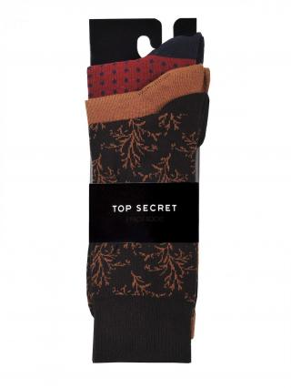 Top Secret MENS SOCKS pánské Brown 41/43