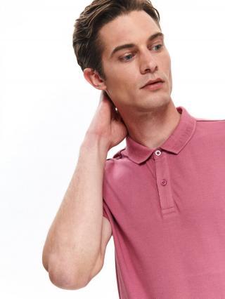 Top Secret MENS T-SHIRT POLO pánské dark pink M