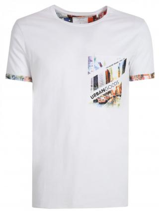 Top Secret MENS T-SHIRT SHORT SLEEVE pánské White XXL