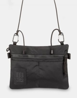Topo Designs Carabiner Shoulder Accessory Bag Black/Black Čierna