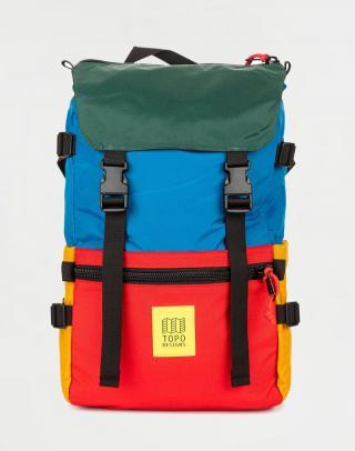 Topo Designs Rover Pack Classic Blue/Red/Forest Červená