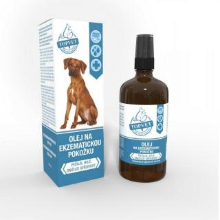 Topvet Olej na ekzematickou pokožku pro psy 100 ml