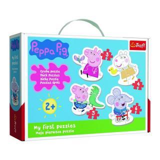 TREFL Baby puzzle Prasátko Peppa 4v1