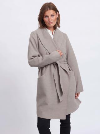 Trenčkoty a ľahké kabáty pre ženy VILA - sivá dámské XS