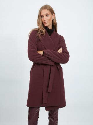 Trenčkoty a ľahké kabáty pre ženy VILA - vínová dámské XS