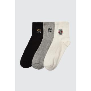 Trendyol 3 Black Knitted Socks dámské One size