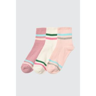 Trendyol 3 Multicolor knitted socks dámské powder pink One size