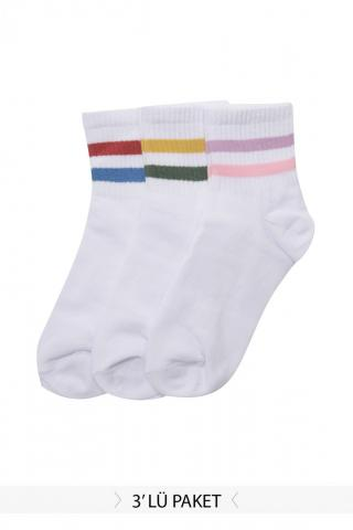 Trendyol 3-Pack Multicolored Knitted Socks dámské One size