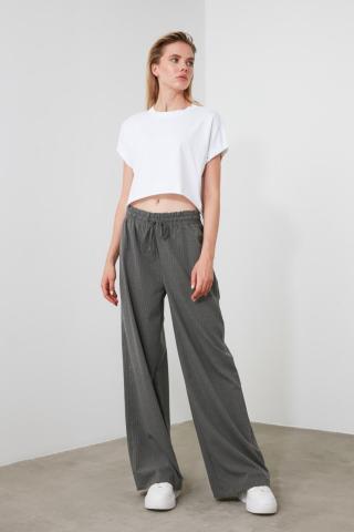 Trendyol Anthracite Binding Detailed Pants dámské 34