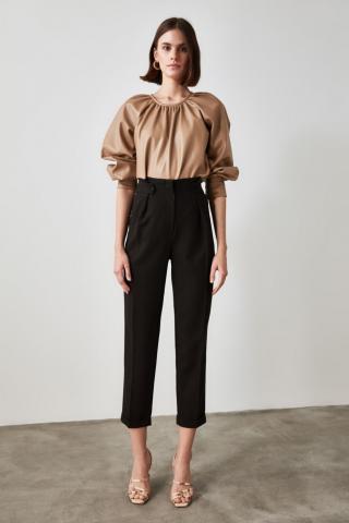 Trendyol Anthracite Button Detailed Trousers dámské 36