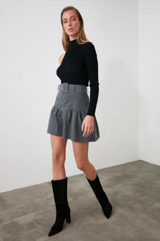 Trendyol Anthracite Color Block Skirt dámské 34