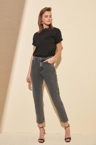 Trendyol Anthracite High Waist Mom Jeans dámské 40