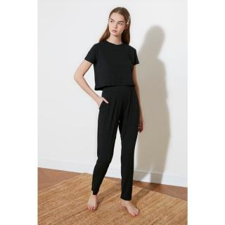 Trendyol Anthracite Knitted Bottom-Top Tool dámské S