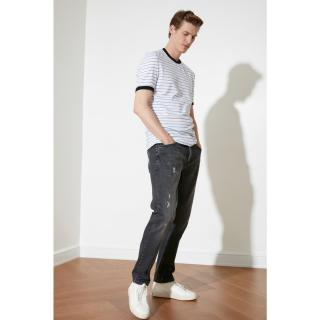 Trendyol Anthracite Male Destroy slim fit jeans 34