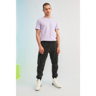 Trendyol Anthracite Men Loose Fit Cargo Jogger Jeans pánské 36