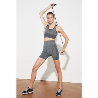 Trendyol Anthracite Seamless Melancholy Sports Shorts dámské M