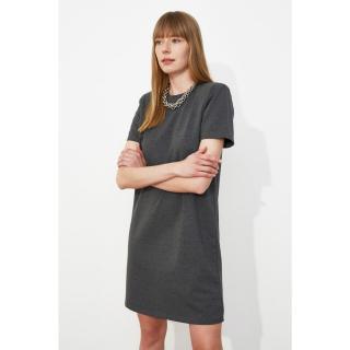 Trendyol Anthracite Vatka Knitted Dress dámské XS