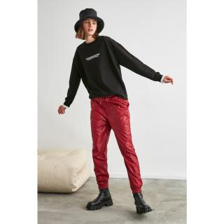 Trendyol Basic Jogger Knitted Tracksuit bottom dámské Burgundy XS