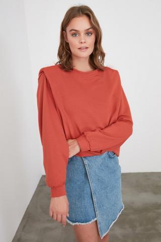 Trendyol Basic Knitted Sweatshirt WITH Cinnamon Shoulder DetailING dámské L