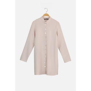 Trendyol Beige Button Detailed Tunic dámské 36