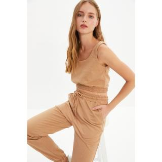 Trendyol Beige Knitted Bottom-Top Set dámské Other XS