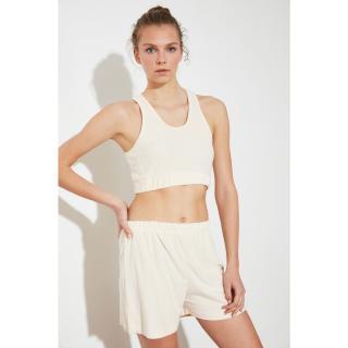 Trendyol Beige Knitted Pyjama Set dámské S