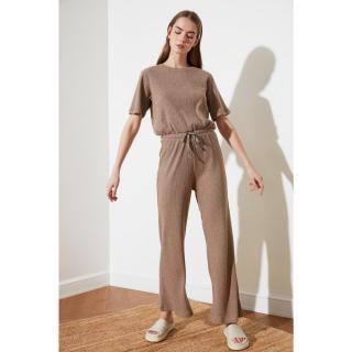 Trendyol Beige Wick Knitted Coverall dámské XS