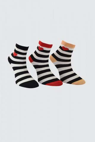 Trendyol Black 3 Pack Embroidered Knitted Socks dámské One size