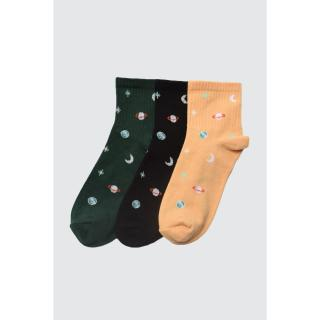 Trendyol Black 3 Pack Knitted Socks dámské One size