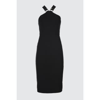 Trendyol Black Accessory Dress dámské 34