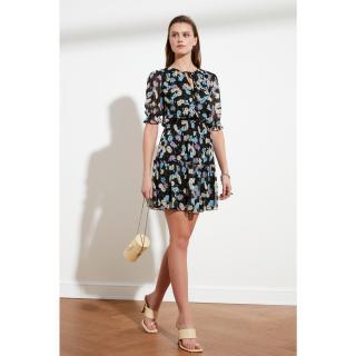 Trendyol Black Assynx Detail Dress dámské 34